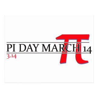 Happy Pi Day March 14 Postcard