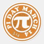 Happy Pi Day March 14 Round Sticker