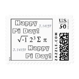 Happy Pi Day! Math Theme 3.14159 i8sumpi Postage