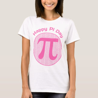 Happy Pi Day Numbers Pink T-Shirt