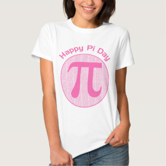 Happy Pi Day Numbers Pink Tee Shirts