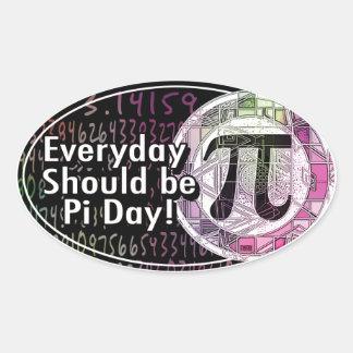 Happy Pi Day Oval Designs Oval Sticker