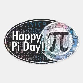 Happy Pi Day Oval Sticker