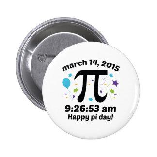 Happy Pi Day! - Pi Day 2015 - 3.14.15 9:26:53 Button