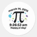 Happy Pi Day! - Pi Day 2015 - 3.14.15 9:26:53 Round Sticker