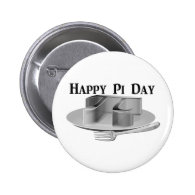 Happy Pi Day - Pi on a Silver Platter Button
