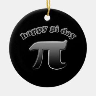 Happy Pi Day   Pi Symbol for Math Nerds March 14 Ceramic Ornament