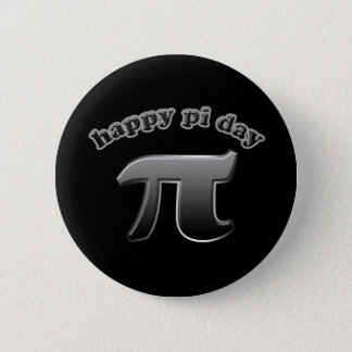 Happy Pi Day Pi Symbol for Math Nerds on March 14 Button