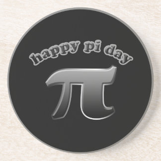Happy Pi Day Pi Symbol for Math Nerds on March 14 Drink Coasters