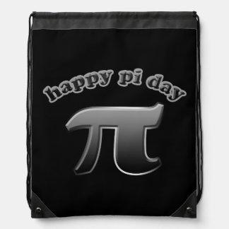 Happy Pi Day Pi Symbol for Math Nerds on March 14 Drawstring Bag