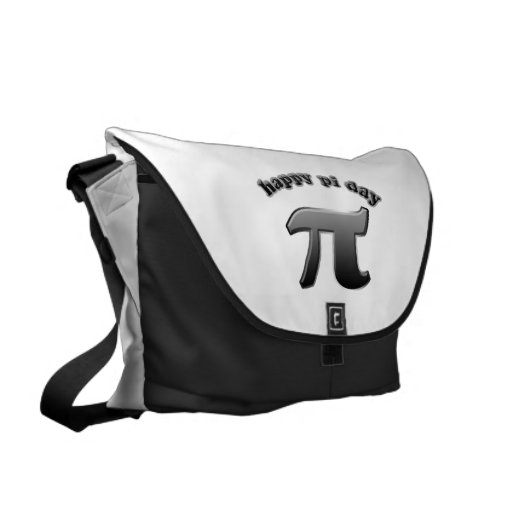 Happy Pi Day Pi Symbol for Math Nerds on March 14 Courier Bag