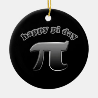 Happy Pi Day Pi Symbol for Math Nerds on March 14 Christmas Tree Ornaments
