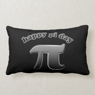 Happy Pi Day Pi Symbol for Math Nerds on March 14 Pillow