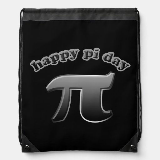 Happy Pi Day Pi Symbol for Math Nerds on March 14 Backpacks