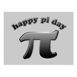 Happy Pi Day Pi Symbol for Math Nerds on March 14 Postcard