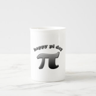 Happy Pi Day Pi Symbol for Math Nerds on March 14 Bone China Mugs
