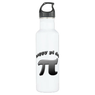 Happy Pi Day Pi Symbol for Math Nerds on March 14 Stainless Steel Water Bottle
