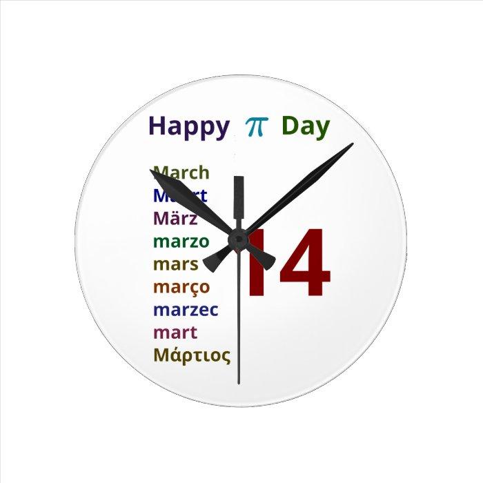 Happy Pi Day! Round Clock
