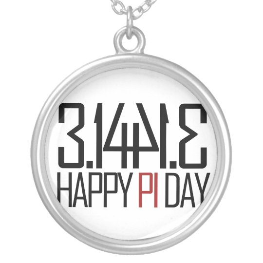 Happy Pi Day Silver Plated Necklace