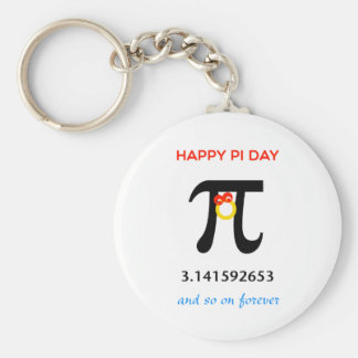 Happy Pi Day, So On and Forever Basic Round Button Keychain