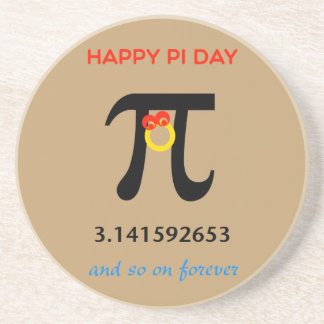 Happy Pi Day, So On and Forever Drink Coasters
