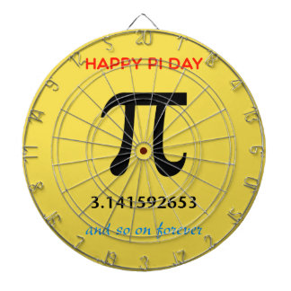 Happy Pi Day, So On and Forever Dartboard With Darts