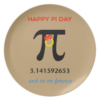 Happy Pi Day, So On and Forever Dinner Plate