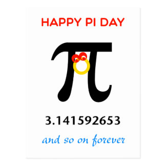 Happy Pi Day, So On and Forever Postcard