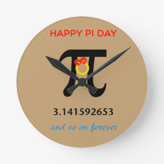 Happy Pi Day, So On and Forever Round Clock