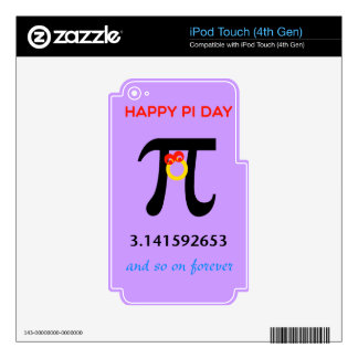 Happy Pi Day, So On and Forever Skins For iPod Touch 4G