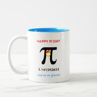 Happy Pi Day, So On and Forever Two-Tone Coffee Mug