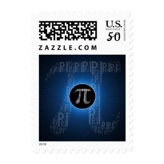 Happy Pi Day Typed Text Symbol | Blue Geek Postage