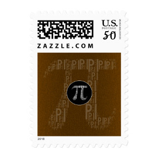 Happy Pi Day Typed Text Symbol | Bronze Geek Postage