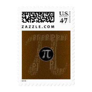 Happy Pi Day Typed Text Symbol | Bronze Geek Postage Stamp