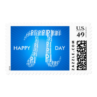 Happy Pi Day Typed Text Symbol | Geek Postage