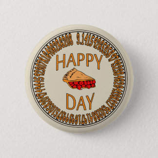 Happy PI Day with Slice of Pi Button