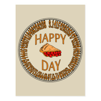 Happy PI Day with Slice of Pi Postcard