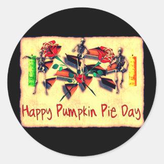 Happy Pie Day Classic Round Sticker