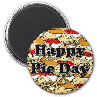 Happy Pie Day Refrigerator Magnets