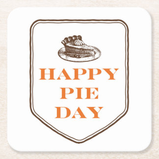 Happy Pie Day Thanksgiving Coasters