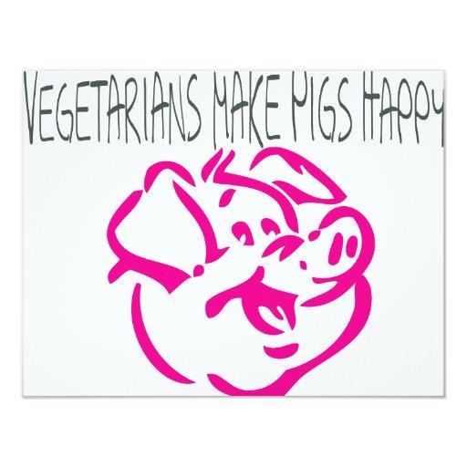 Happy Pig.ai 4.25x5.5 Paper Invitation Card