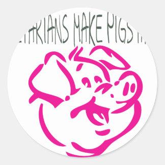Happy Pig.ai Round Sticker