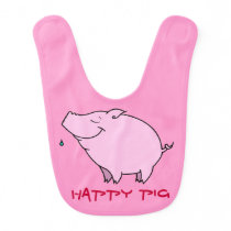 Happy Pig Baby Bib