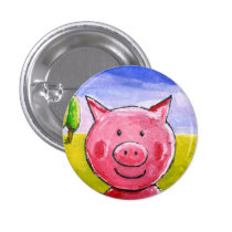 Happy Pig Button