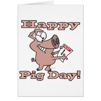 happy pig day card