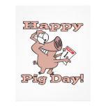 happy pig day custom flyer
