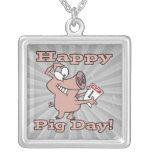 happy pig day custom necklace