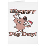 happy pig day greeting card