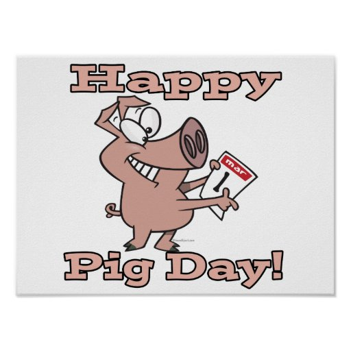 happy pig day posters