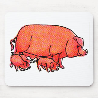 Happy Pig family Mouse Pad